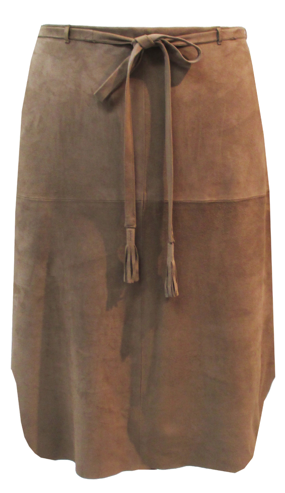 スェードスカート